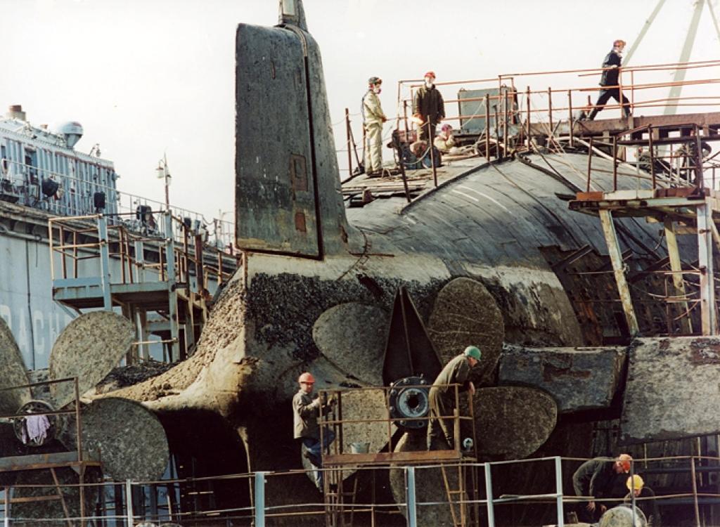 завод по ремонту подводных лодок в бухте павловская