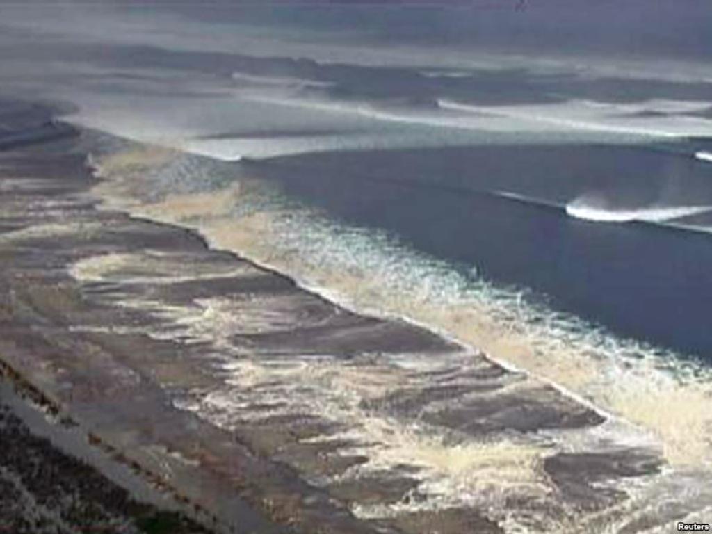 фото отлива воды в океане перед цунами обычный