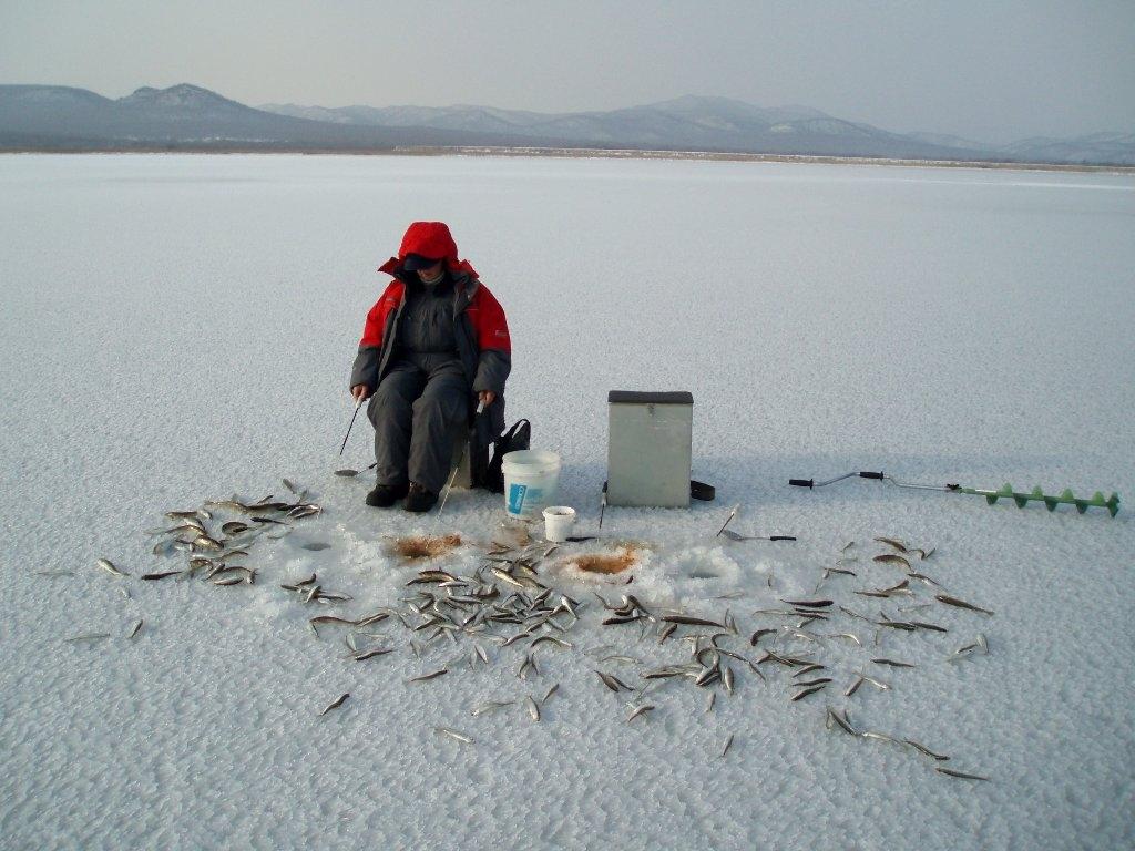 рыбалка приморья ловля корюшки