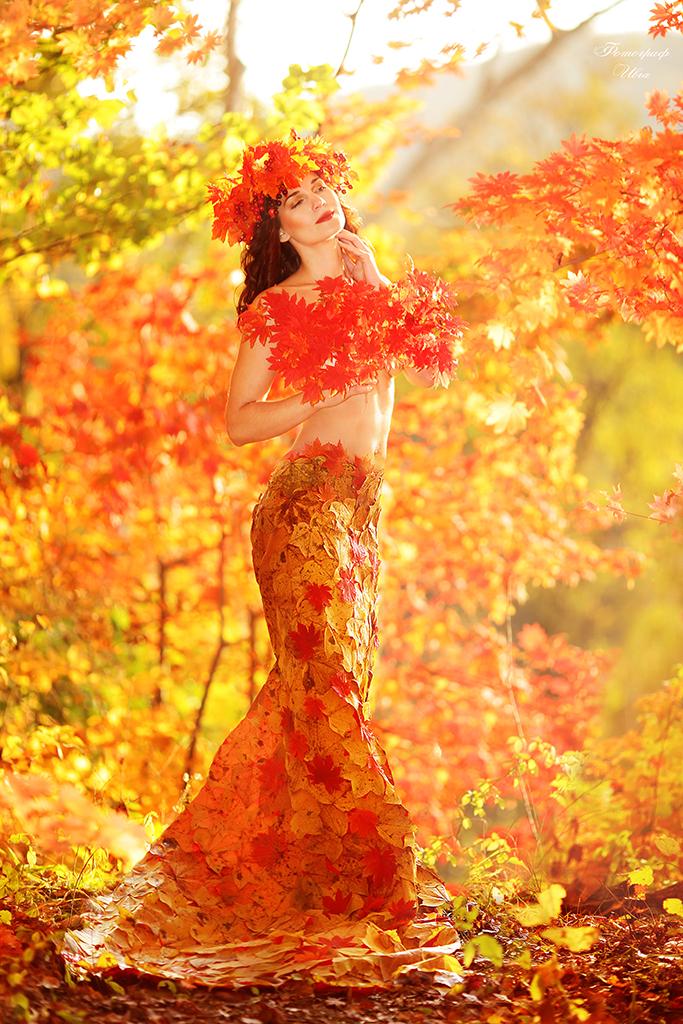 Картинки женщина-осень