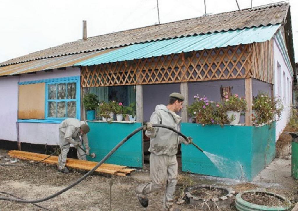 Военные закончили дезинфекцию пострадавших отпаводков посёлков Приморья