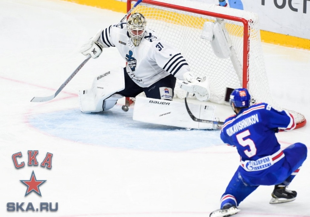 СКА взял верх над «Адмиралом» вматче чемпионата КХЛ
