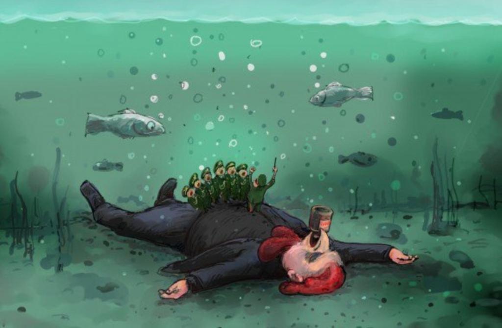 Украинский карикатурист вциничной карикатуре высмеял смерть пассажиров Ту-154— Вежливый корм