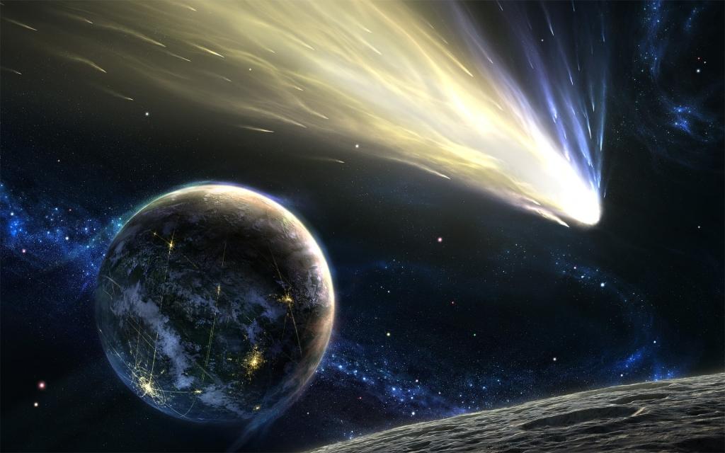 Два космических объекта близятся кЗемле