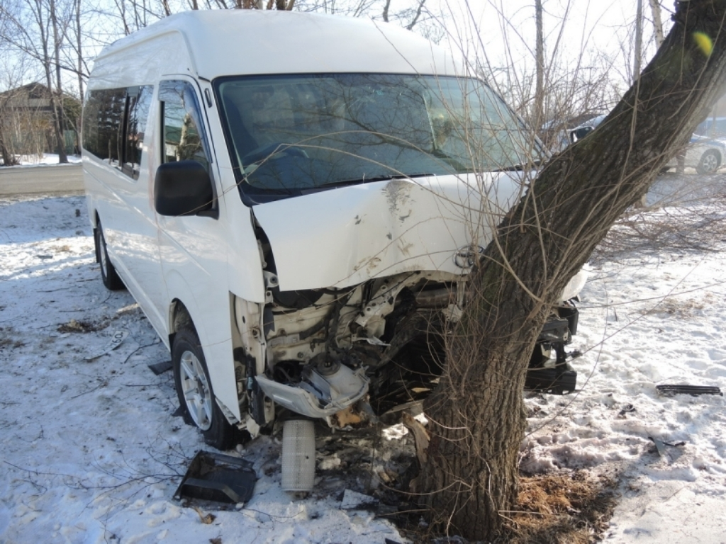 ВУссурийске нетрезвый мужчина угнал иномарку савтомойки ипопал вДТП