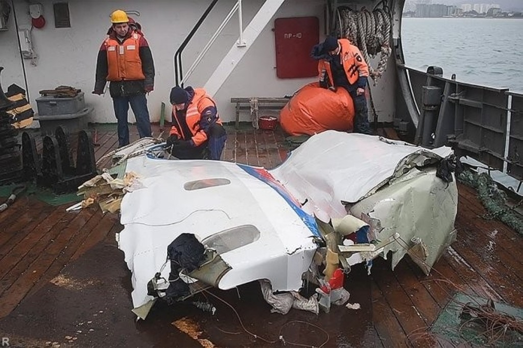 Кадры сместа таинственной погибели Ту-154— Утопленный пилотами