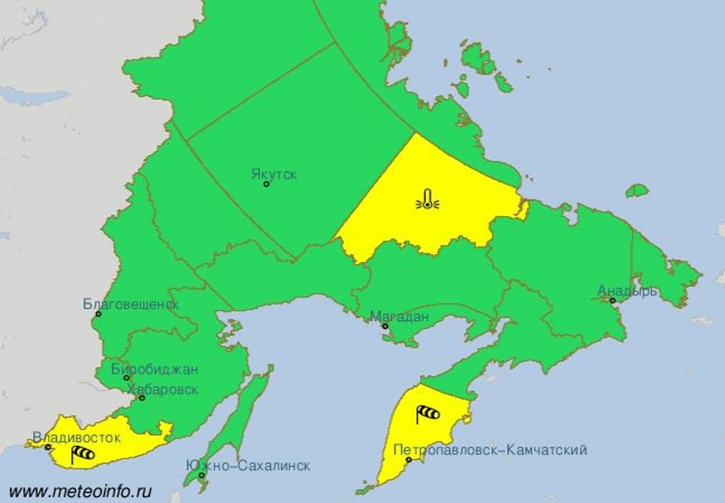 В столице объявлен «желтый» уровень погодной опасности