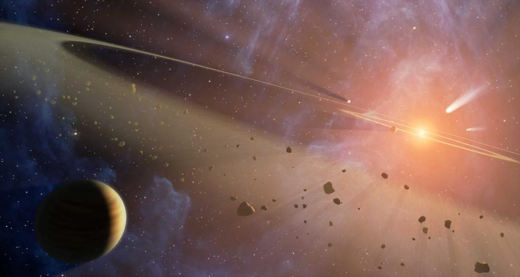 Ученые сообщили оналичии остатков погибшей планеты наорбите Марса