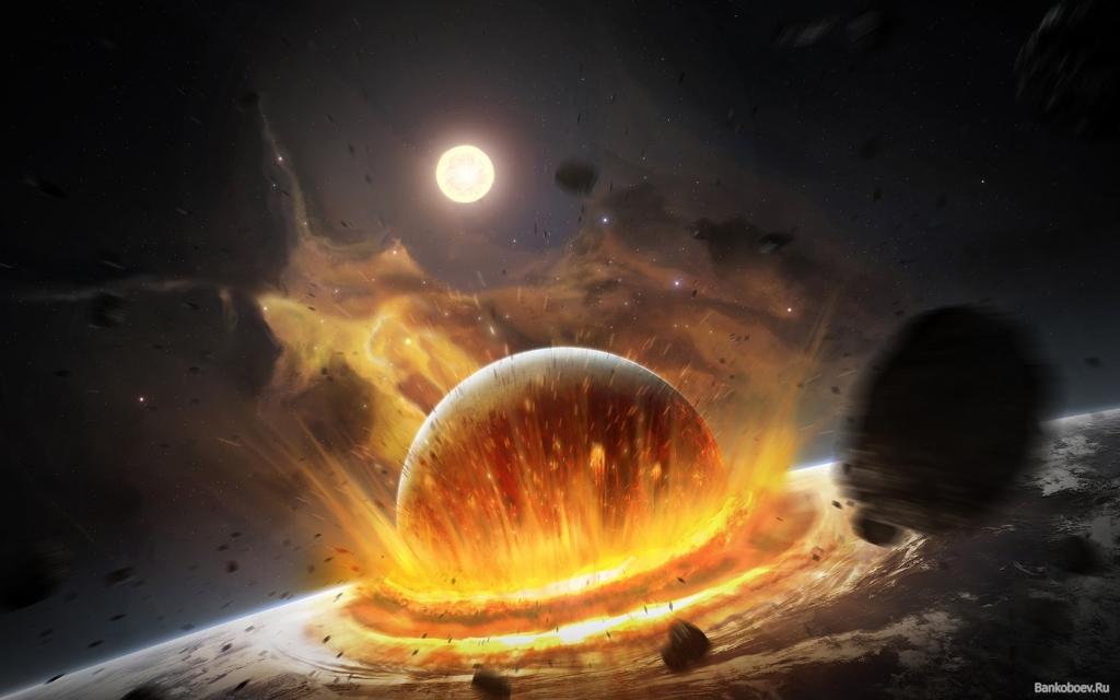 При падении астероидов население Земли  погибнет ответра