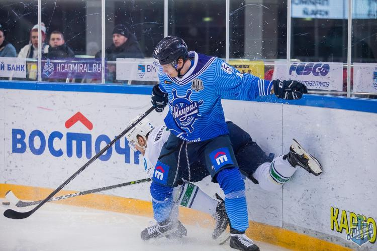 «Барыс» потерпел восьмое поражение подряд вКХЛ, проиграв «Адмиралу»