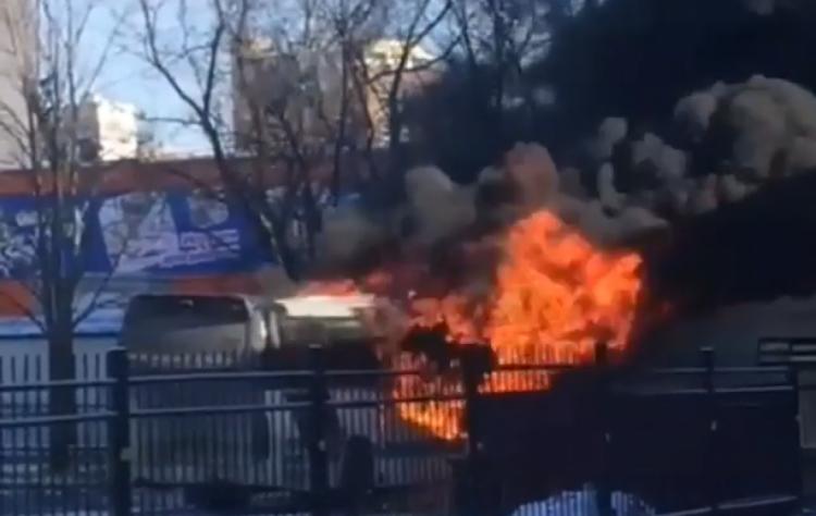 Наавтовокзале воВладивостоке сгорел автобус