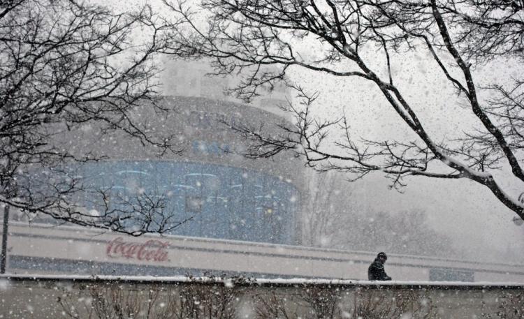 ВоВладивостоке мокрый снег игололед